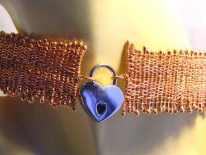 Handmaiden woven copper slave collar