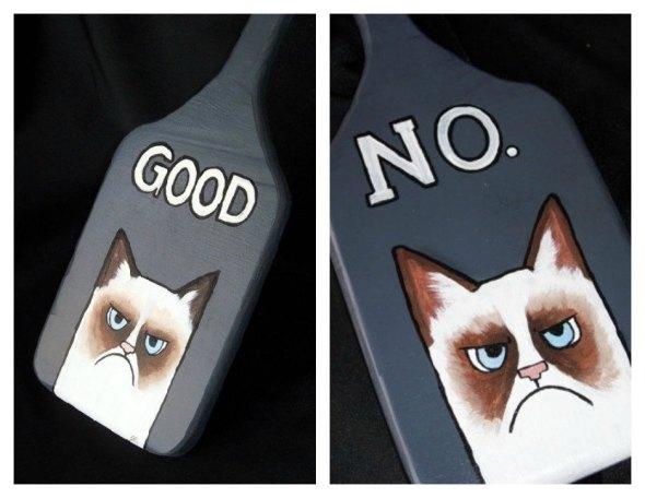 Grumpy Cat Tard meme inspired BDSM Paddle